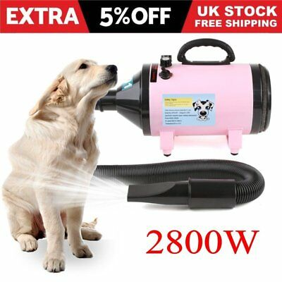 2800W Pet Dog Cat Grooming Hair Dryer Heater Blaster Blower Hairdryer Low Noise