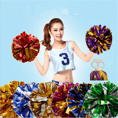 Game Pompoms Cheerleader Cheerleading Cheer Finger Ring Pom Dance Party Club DIY