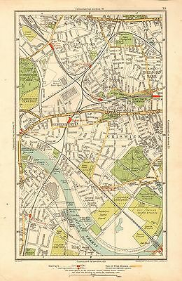 1933 London Map- Chiswick, Acton,bedford Park, Gunnersbury, Kew