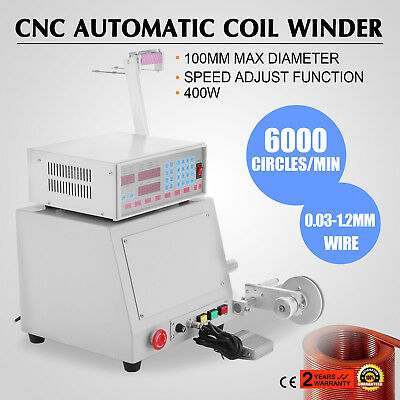 400W Computer CNC Automatic Coil Winder Winding Machine Simple Tension Set