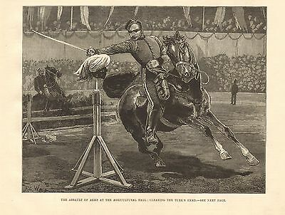 1880 Antique Print-The Assault Of Arms At The Agricultural Hall