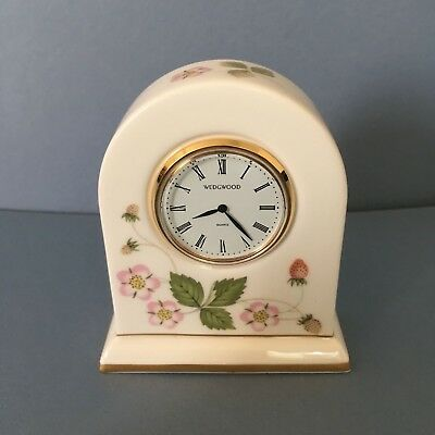 Wedgwood wild strawberry miniature clock