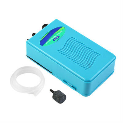 Oxygen Pump Fish Tank Aquarium with Soft Tube With Air Stone Blue, £8.99 FROM UK