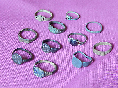 Lot of 11 Ancient Bronze Rings