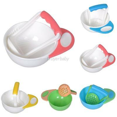Infant Toddler Baby Learn Dishes Grinding Bowl Kids Handmade Grinding Food Mill