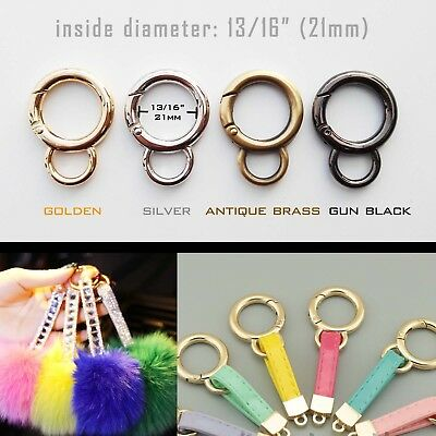 Spring Gate Double D O Ring Bag Belt Strap Web Buckle Clip Trigger Pendant Clasp