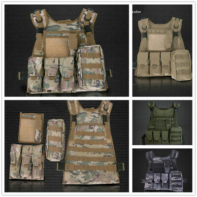Military Tactical Molle Hunting Vest Paintball Jacket  SWAT Airsoft Army Combat