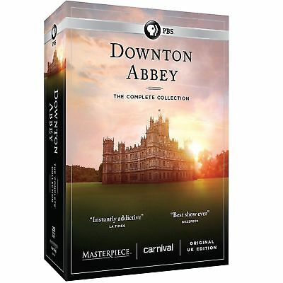 Downton Abbey: Complete Series Collection (DVD, 22-Disc Set, Seasons 1-6) DF