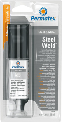 Permatex Steel Weld Multi-Metal Epoxy 4 Minute adhesive filler
