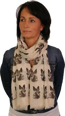 German Shepherd scarf with dogs on OM womens fashion shawl mike sibley