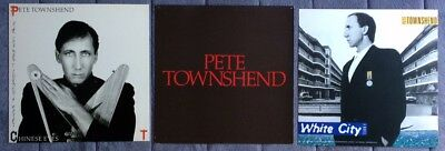 Pete Townsend White City/ Deep End/ All the Best RARE promo 12 x 12 poster flats