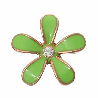 Sexy Sparkles 5 Pcs Enamel Flower Rose Charm Embellishment Findings with Clear R