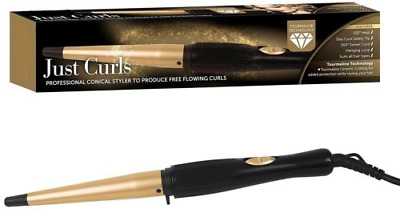 Vfm Professional Conical Ceramic Hair Curling Wand Salon Curlers Tong Styler