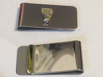 Sports Cup Trophy GT9 Fine English Pewter on a Money Clip Chrome