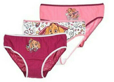 Official Nickelodeon Paw Patrol 3 PACK Girls Knickers Briefs Underwear Ages 2-8