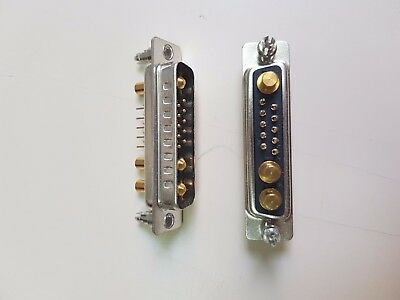 13W3PPV22140D00, CVILUX High Power D-Sub 13P 40A Straight Dip Type Plug Connecto
