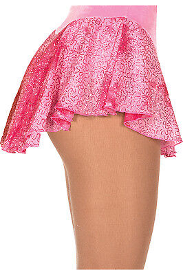 New Figure Skating Dress Skirt Jerry's Pink Glitter Mesh AS Adult Small