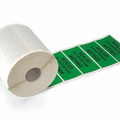 85x40mm Green Tamper Evident Security Seal Labels VOID OPEN Stickers