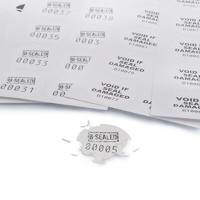 White Round tamper evident eggshell destructible void stickers & Security labels