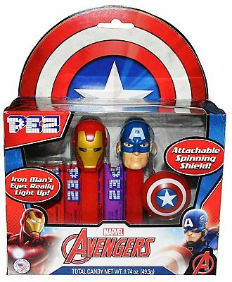 Pez Marvel Avengers Captain America Iron Man Twin Pack