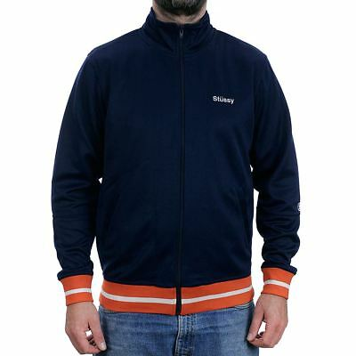 Stussy Poly Track Jacket Navy Coat New BNWT Official Stockist Free Delivery