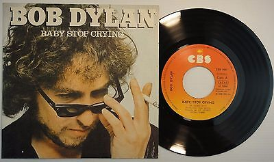 BOB DYLAN 45 RPM Spain MINT *Baby Stop Crying / We Better Talk This Textured Cov