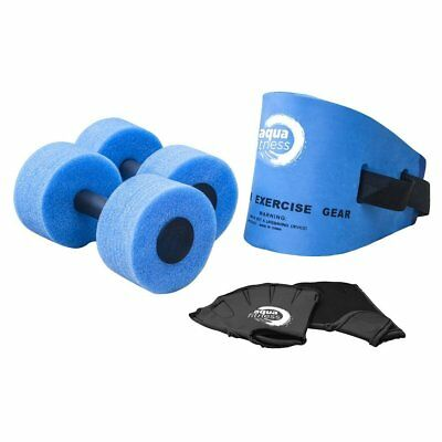 Aqua Fitness Exercise Set - 6 Piece Set - Water Workout and Aerobics - Belt, by