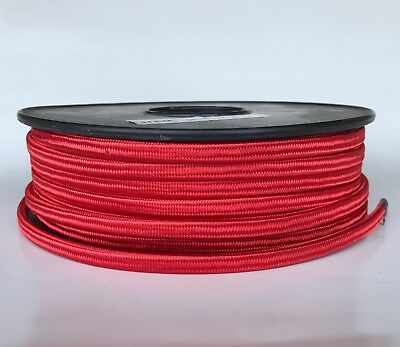 Red  Parallel Rayon Covered Wire, Antique Style Cloth Lamp Cord, Vintage Lights