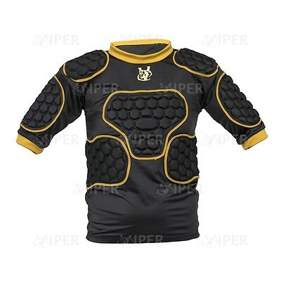 Viper Rugby Shoulder Pads Body Armour Protective Gear Men Boys Gold