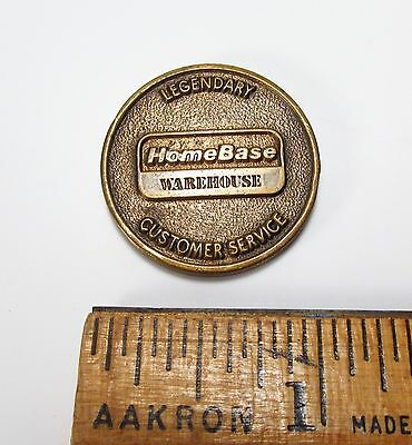 HTF Vintage 1990s Era HomeBase Home Improvement Warehouse Brass Token Coin