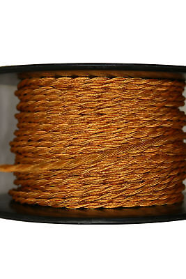 Gold Twisted Rayon Covered Wire, Antique Style Cloth Lamp Cord, Vintage Lights