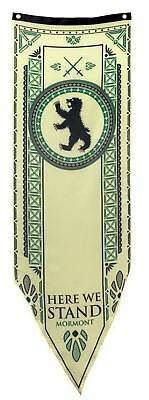 "Game of Thrones House Mormont Tournament Banner - 19"" by 60"" 100% Polyester NEW"