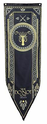 "Game of Thrones House Greyjoy Tournament Banner - 19"" by 60"" 100% Polyester New"