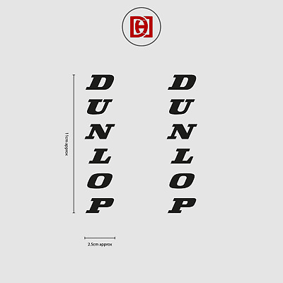 Dunlop Vertical Sticker Decal x 2 - Available In Over 50+ Colours