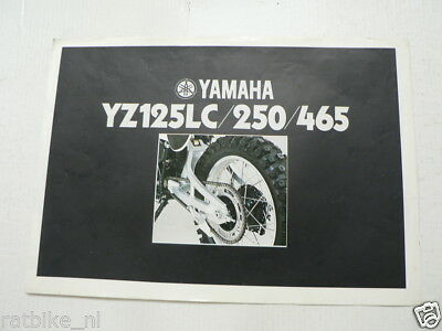 Y332 Yamaha Brochure Yz125Lc,250,465 1981 ? Models German/English/French 4 Pages
