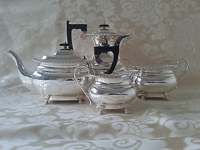 SOLID SILVER TEA SET SERVICE Sheffield - Approx. 2120g