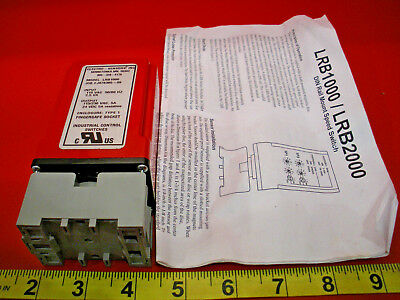 Electro Sensors LRB1000 Relay Din Rail Mount Speed Switch 115vac 5a Nib New