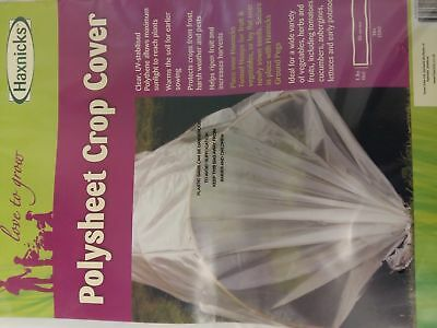 Haxnicks Polysheet Crop Cover 1.8m x 10m (6ft x 33ft) UV Stabilised poly tunnel