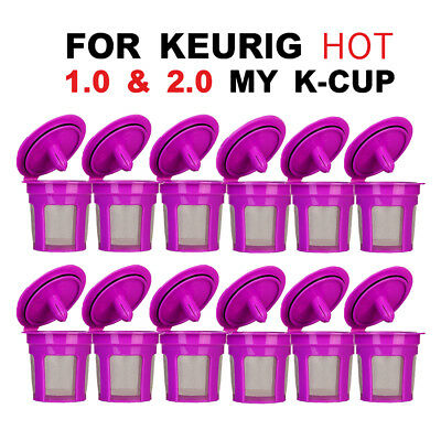 BRBHOM 12 Refillable Reusable K Cup Coffee Filter Keurig 1.0 2.0 K200 K250 K300