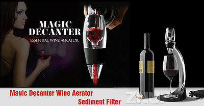 PREMIUM Magic Red Wine Aerator Decanter Essential  Sediment Filter Pouch