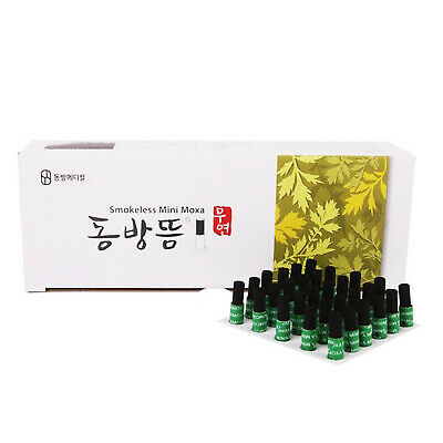 DongBang Wormwood Mugwort Moxibustion Smokeless Mini Moxa Stick Roll Cone 1 Box