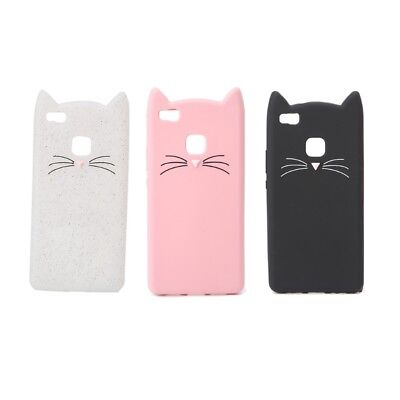 Cat Soft Silicone 3D Moustache Phone Case Back Cover For Huawei P9 Lite/G9 Lite