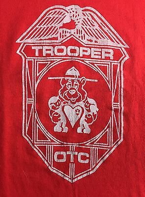 Vintage Youth L 70s 80s State Trooper Law Enforcement Police OTC Patrol T-Shirt