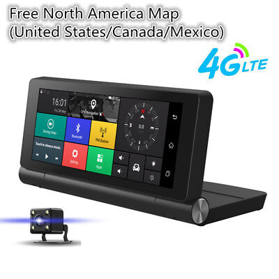 New Folding 4G HD Car Kit DVR Dual Camera GPS Navigation Android Touch WiFi ADAS
