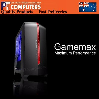 Gamemax Gaming Desktop PC Black Computer Case With Windows Mini iTX Micro ATX