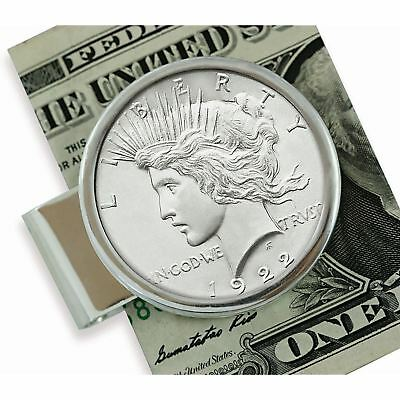 NEW American Coin Treasures Sterling Silver Peace Coin Money Clip 13516