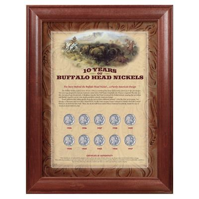 NEW American Coin Treasures 10 Years of Buffalo Nickels - Wood Frame 157