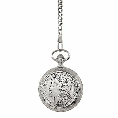 Cheap Price .late 1800s English Sterling Silver Double Albert Pocket Watch Chain Fob Sterling Silver (.925) Silver Coin