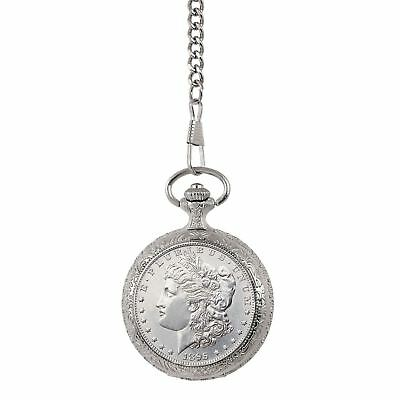 NEW Uncirculated 1800's Morgan Silver Dollar Coin Pocket Watch 13961