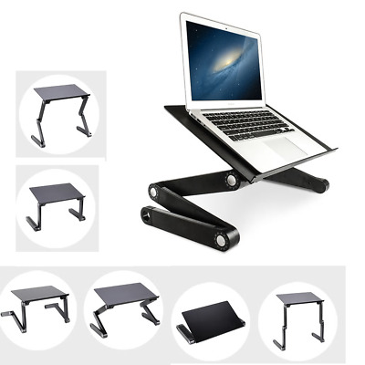Laptop Lap Desk Foldable Table e-Table Bed Ajustable Stand TV Tray Station